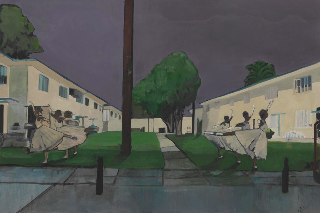 Noah Davis painting of ballerinas at night